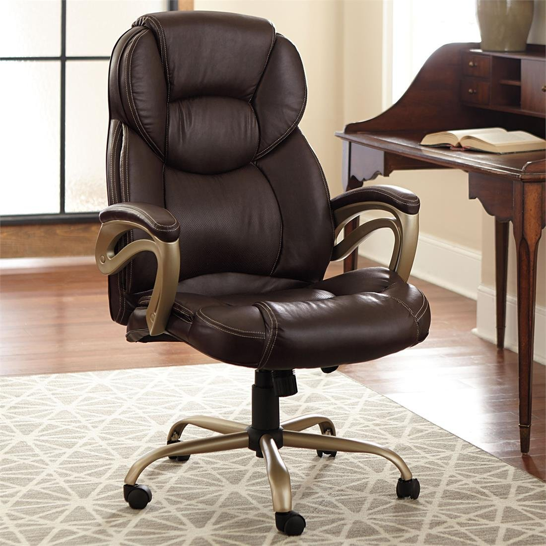 durable pvc home office chair. brylanehome extra wide memory foam office chair durable pvc home