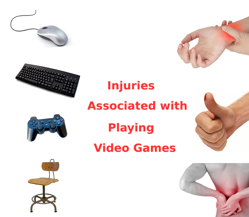 injuries from playing video games