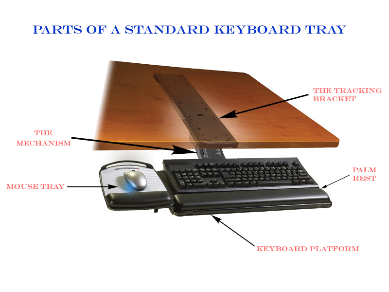 keyboard tray components